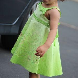 Green Dress with matching Bummie